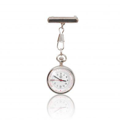 Nurse watch in silver