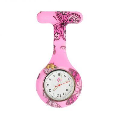 Butterfly nurse watch, pink