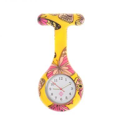 Butterfly nurse watch, yellow