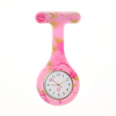 Flower nurse watch, pink