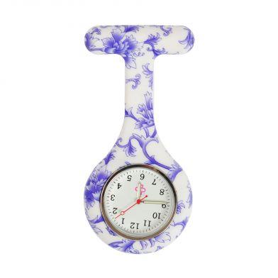 Porcelain nurse watch, blue