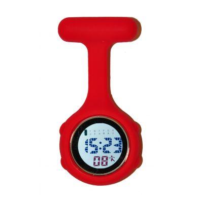 Red digital nurse watch
