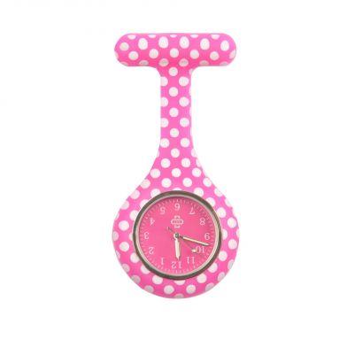 Dots nurse watch, pink