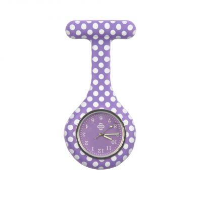 Dots nurse watch, purple