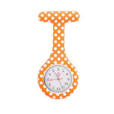Dots nurse watch, orange