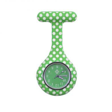 Dots nurse watch, dark green