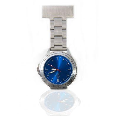 Nurse watch stainless steel, blue
