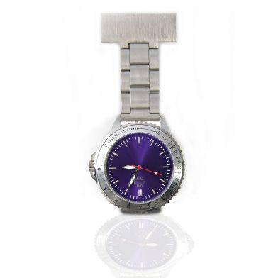 Nurse watch stainless steel, purple