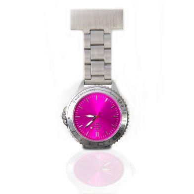 Nurse watch stainless steel, pink