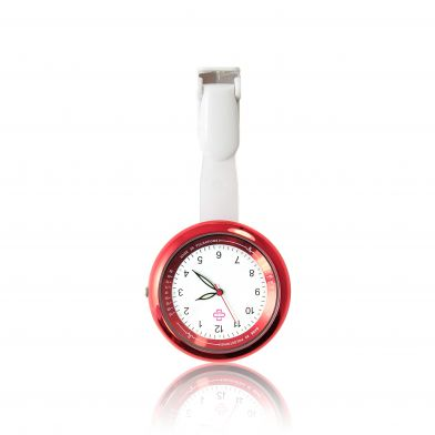 infinity, red nurse fob watch