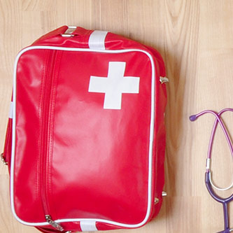 Work satchels, stethoscopes ...